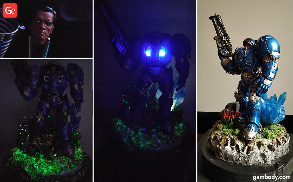 Terran Marine 3D printed figurine with LED lights January trends
