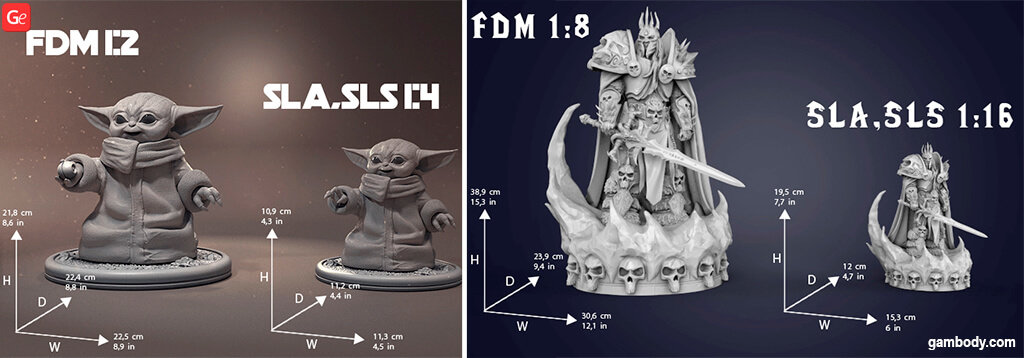 Difference between FDM and DLP/SLA STL files 3D printing guide for beginners