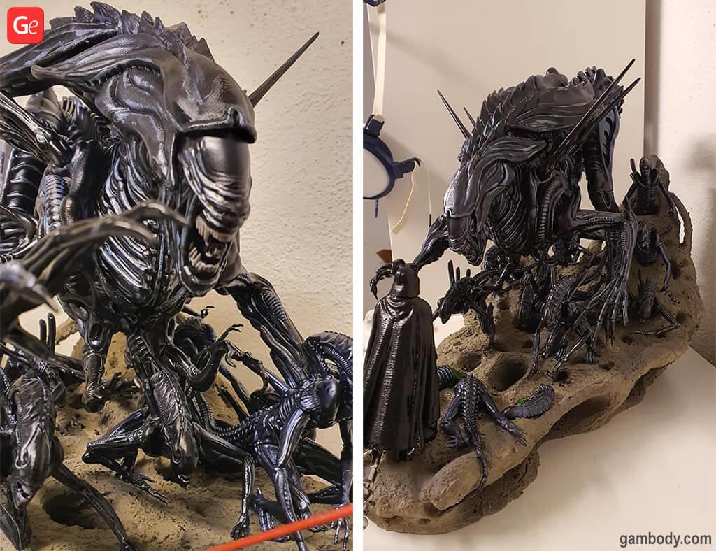Alien Queen model to 3D print