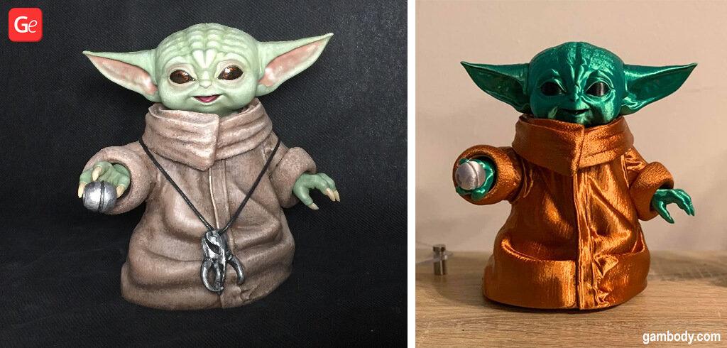 Baby Yoda 3D printing models with STL files