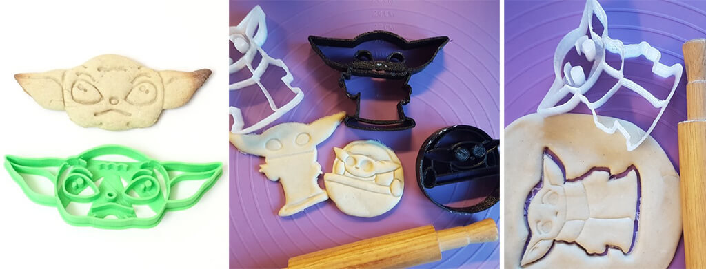 Baby Yoda cookie cutters for Star Wars and The Mandalorian fans