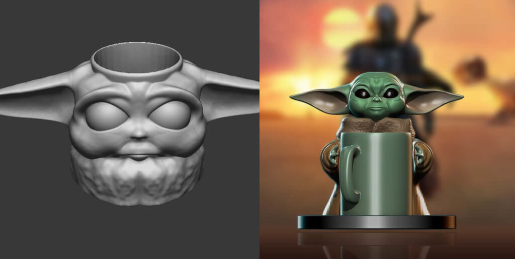 The Child cup coaster 3D printing models from Star Wars
