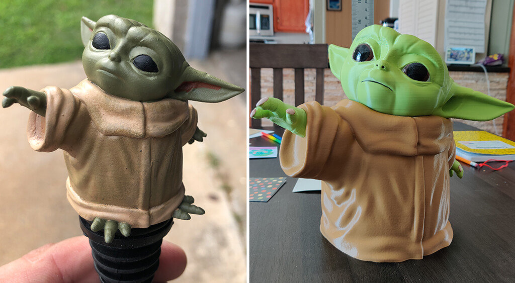 Baby Yoda miniature for 3D printing