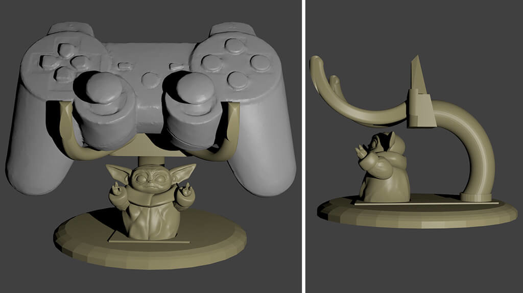 The Child 3D printing models holder for PS4 control
