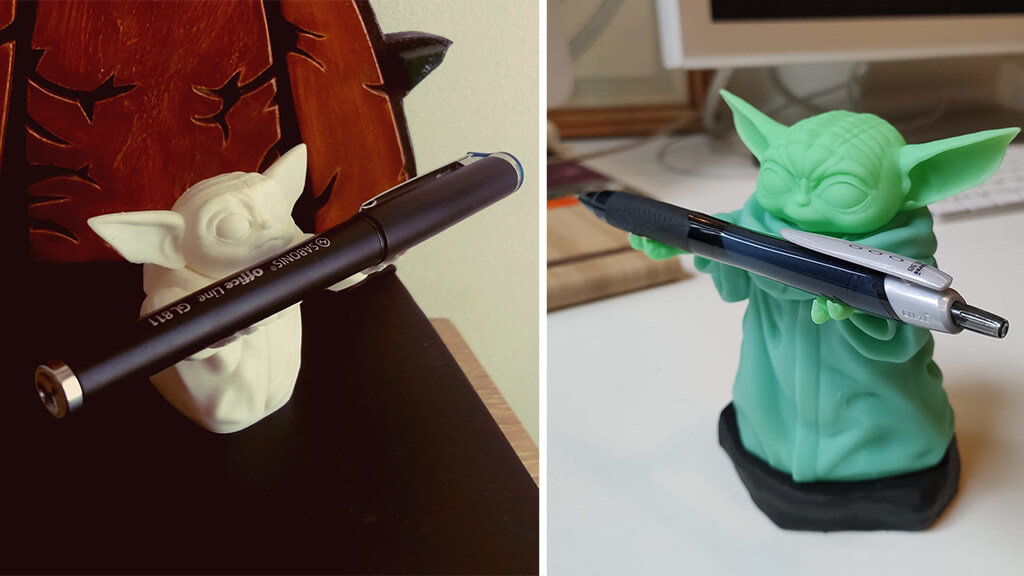 Baby Yoda pen holders 3D printing models STL files