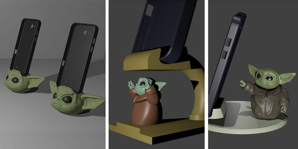 The Child Star Wars phone stand 3D printing models