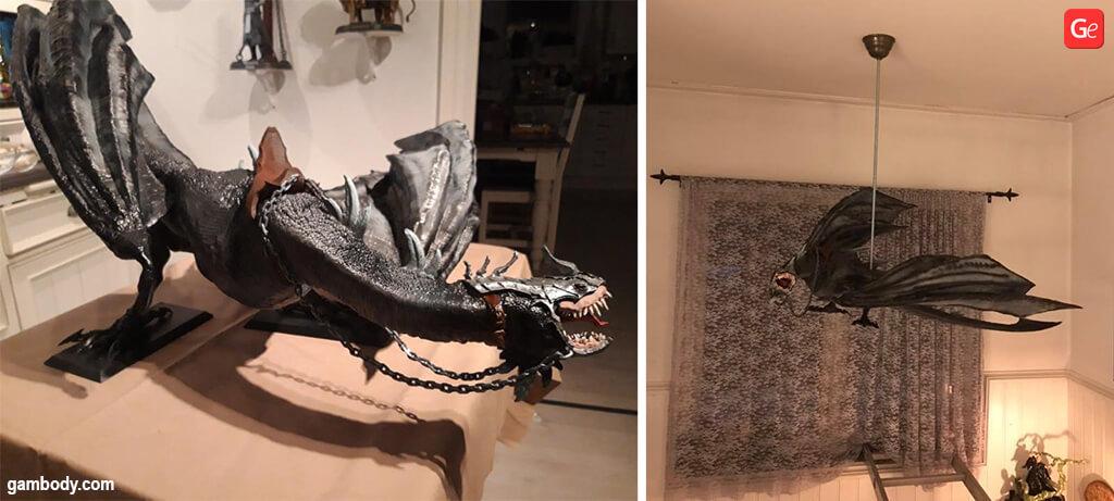 Fell beast 3D printed dragon