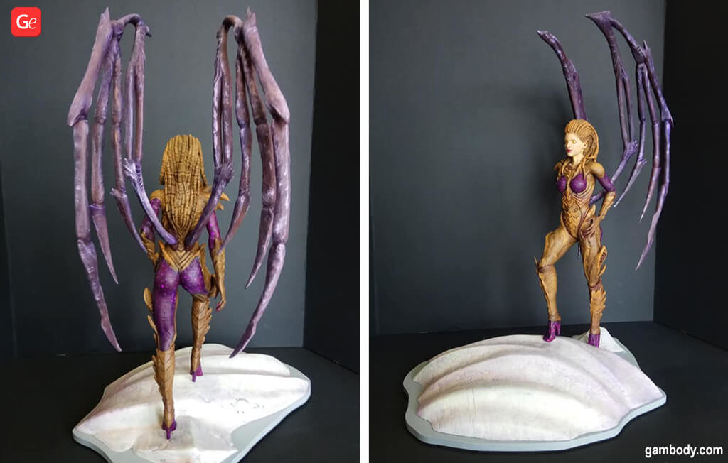 Queen of Blades StarCraft video game 3D printing model 2020 trends