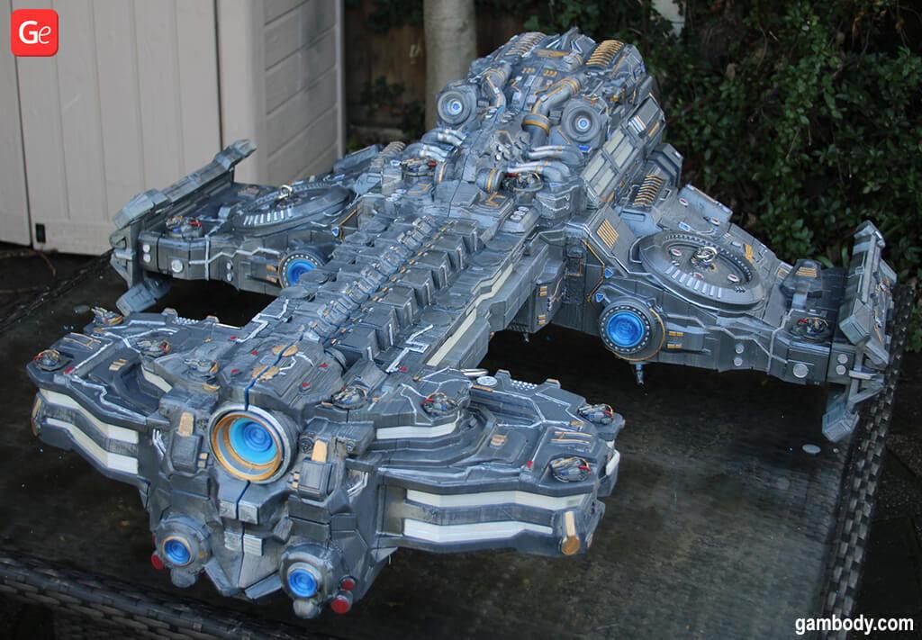 Terran Battlecruiser video game models to 3D print