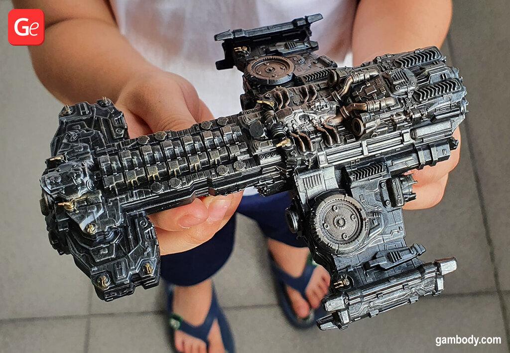 Terran Battlecruiser miniature 3D printing model one piece