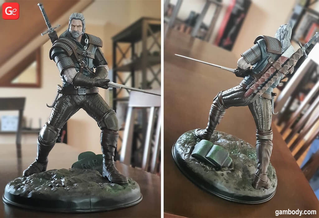 Witcher figurine to 3D print February 3D printing trends