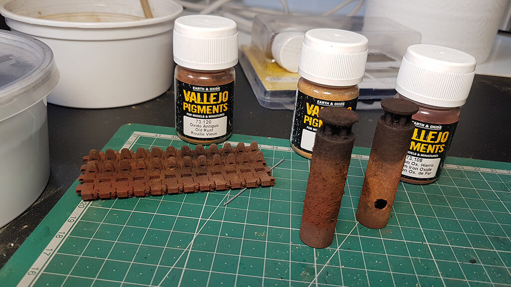 How to paint rust on metal 3D printed parts