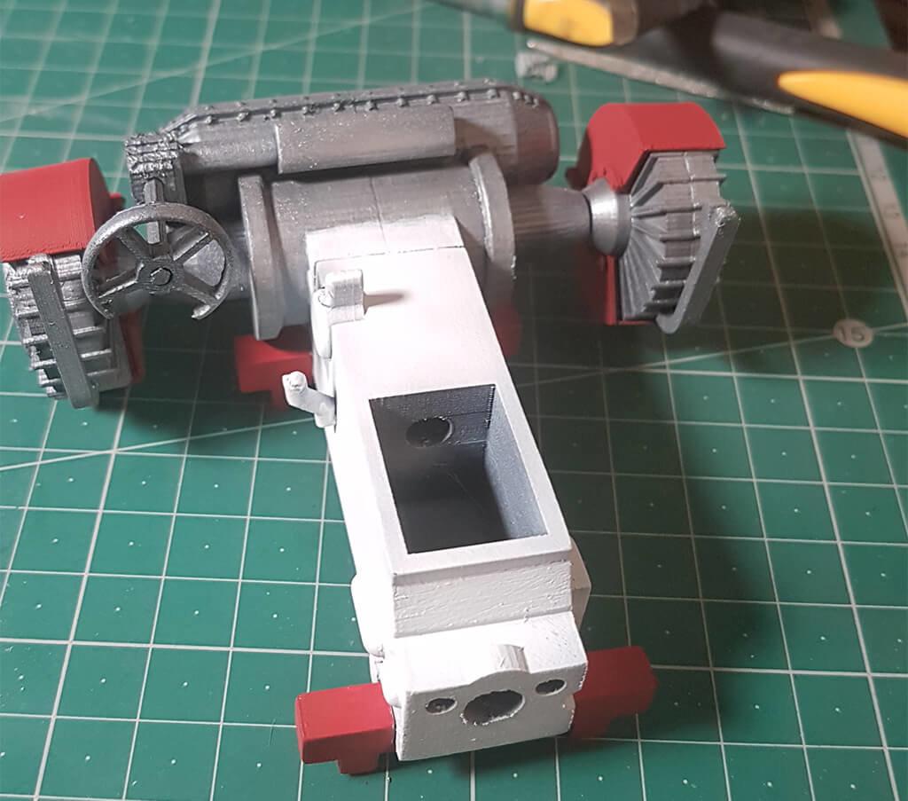 3D printed tank interior part