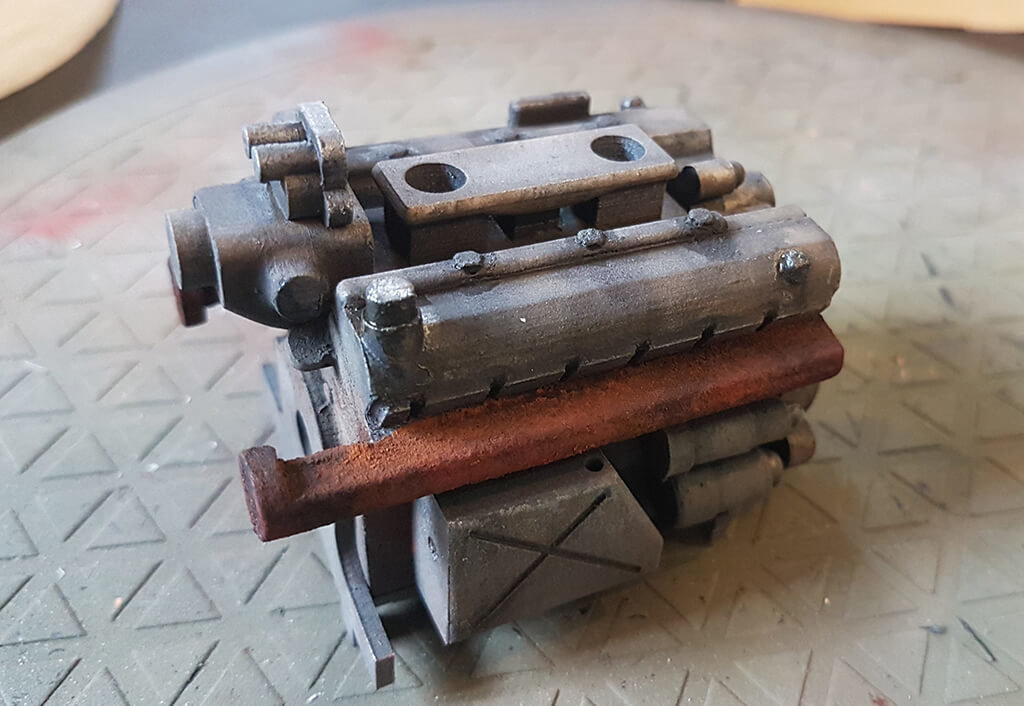 Painting 3D printed model part