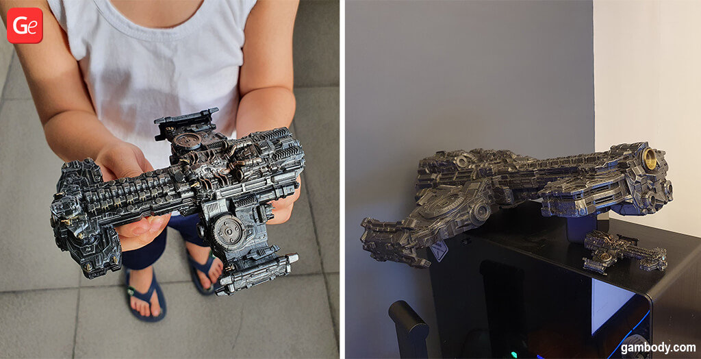 Terran Battlecruiser 3D printing for board games