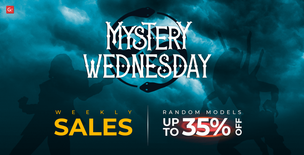 Mystery Wednesday Campaign on Gambody to save up to 35% off 3D printing models