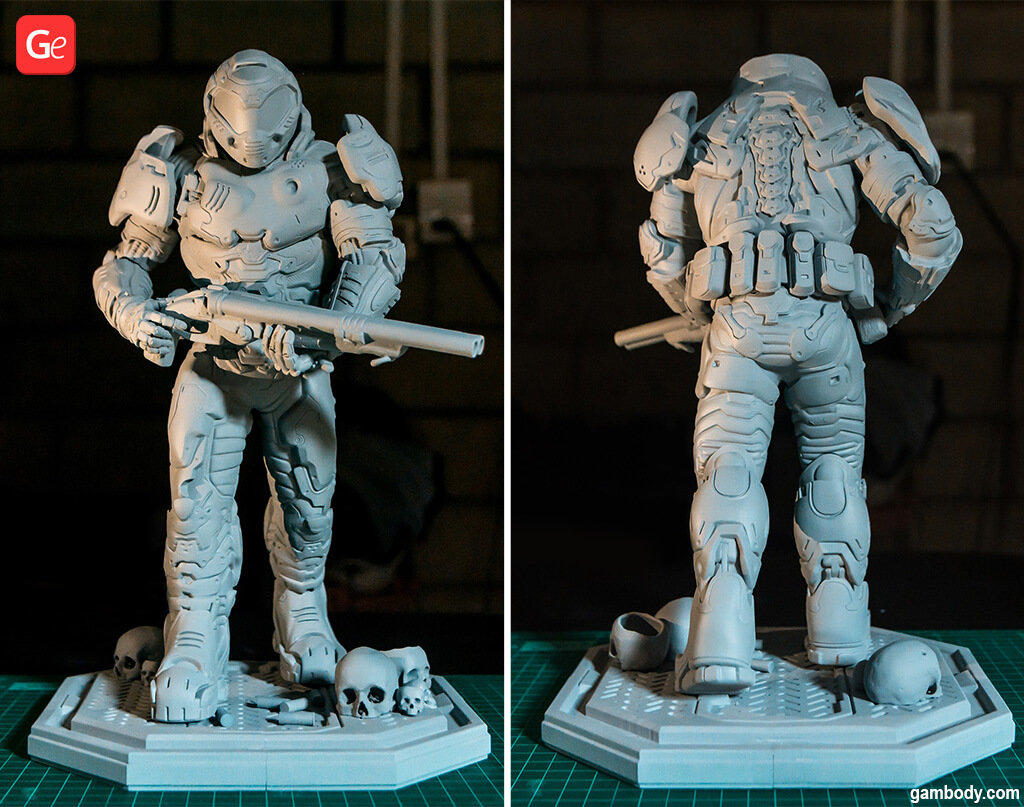 Doom Slayer 3D printing figurine fun things to do at home