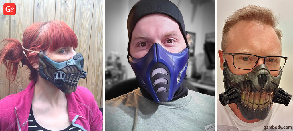 Fun things to do at home Fun Masks to 3D print by Gambody