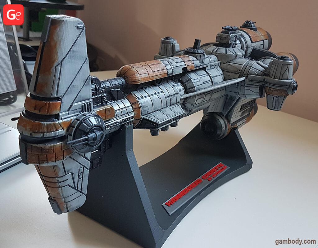 Hammerhead Corvette 3D printed model from Star Wars