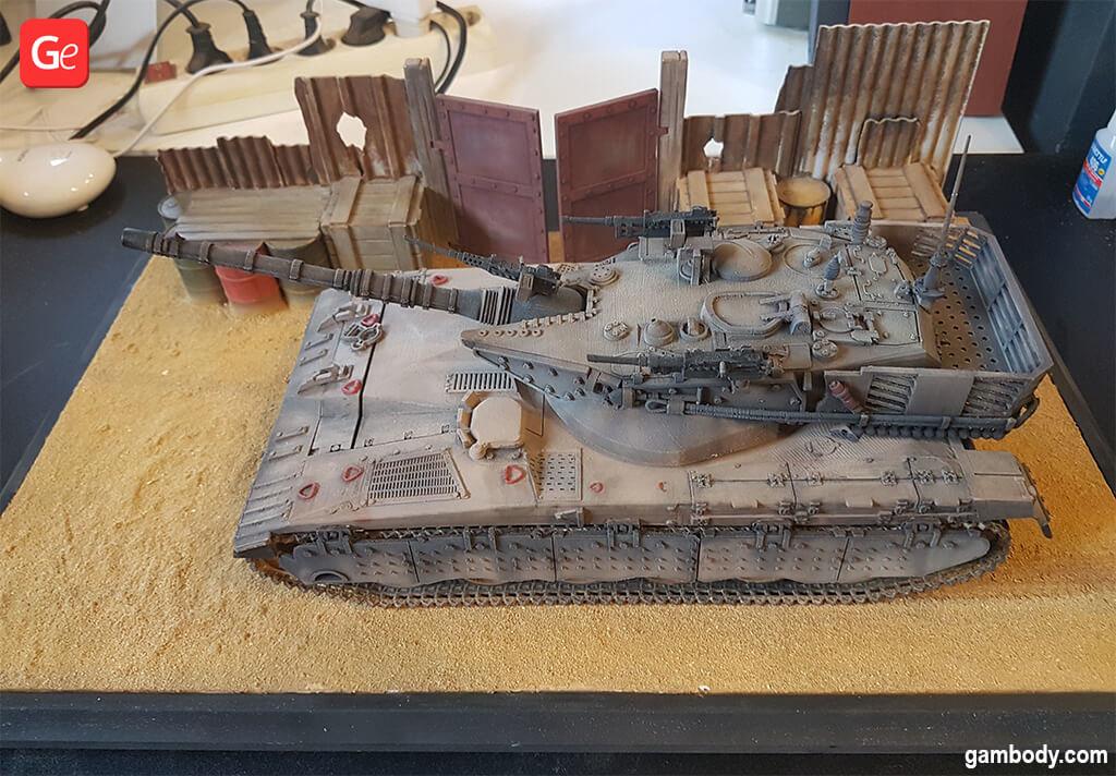 3D print Merkava tank