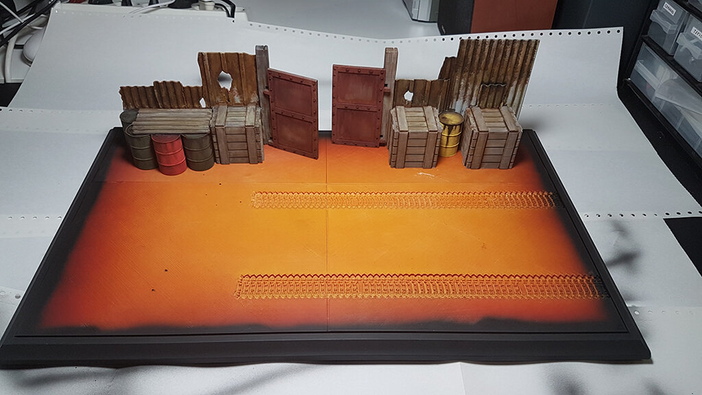 Scenery for 3D printed model photoshoot