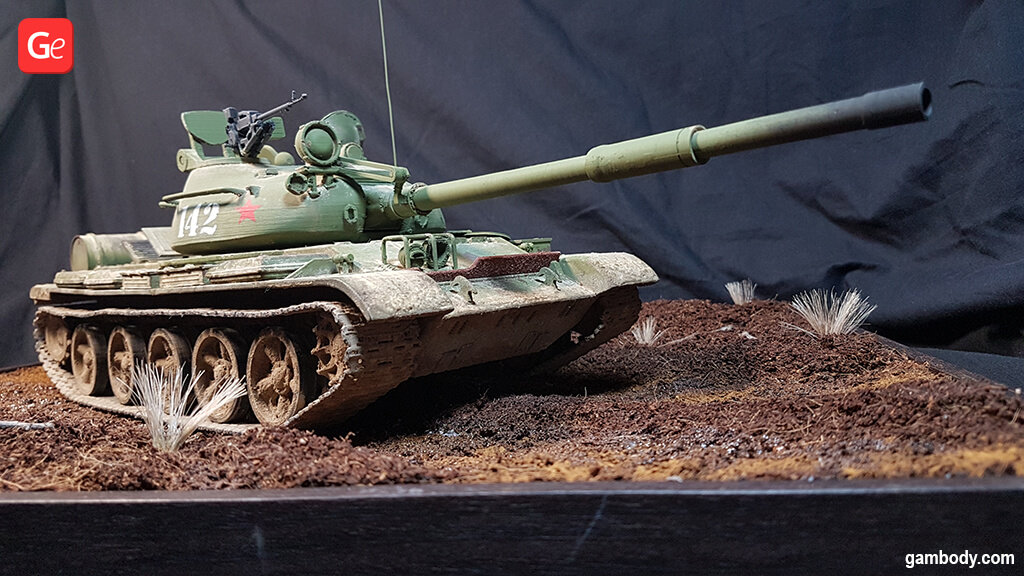 T-62 tank 3D model for 3D printing