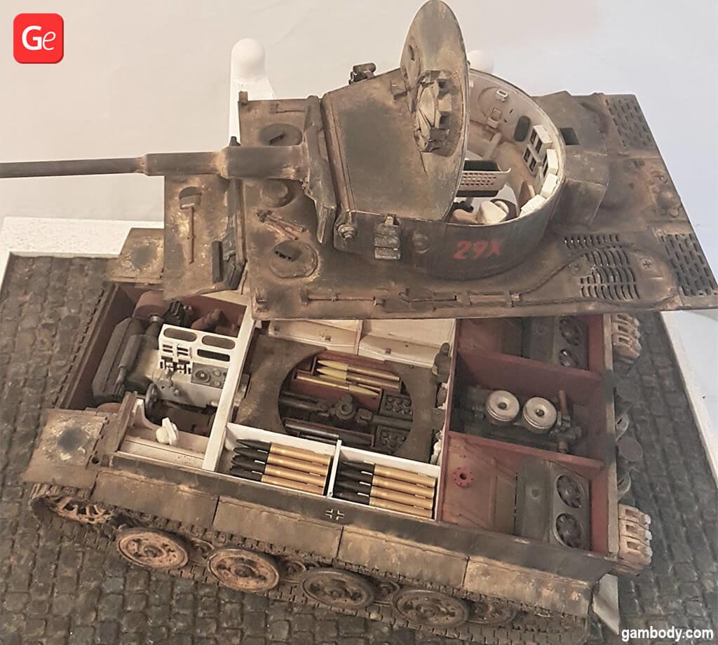 Tiger tank 3D printed model