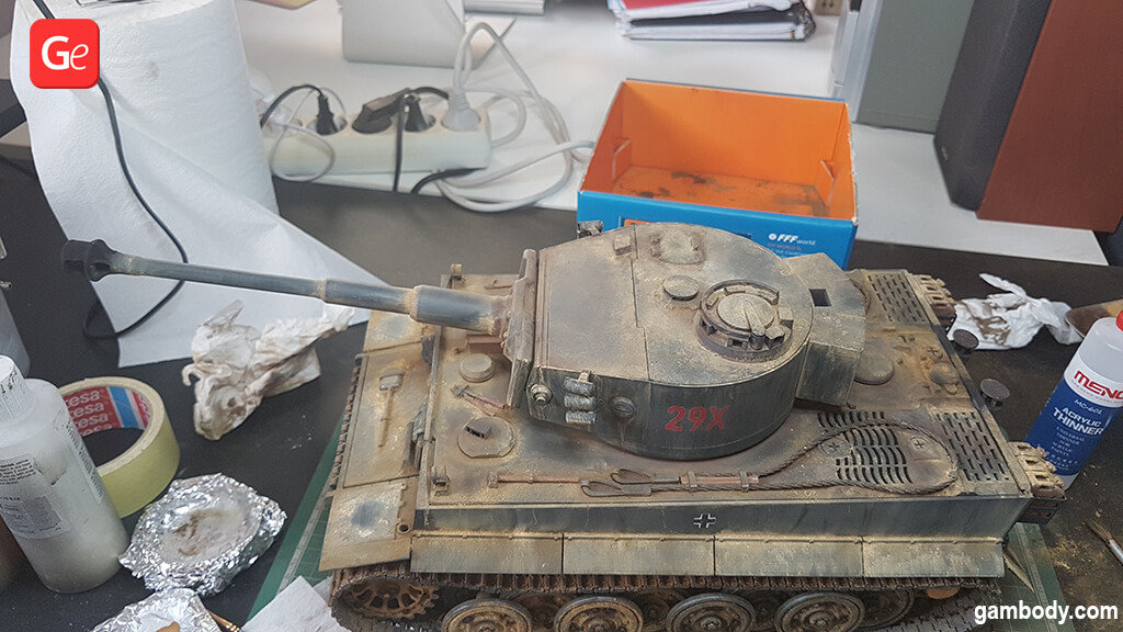 Tiger tank 3D printing model