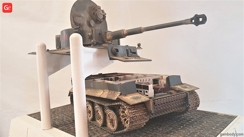 3D printing tank model Tiger I