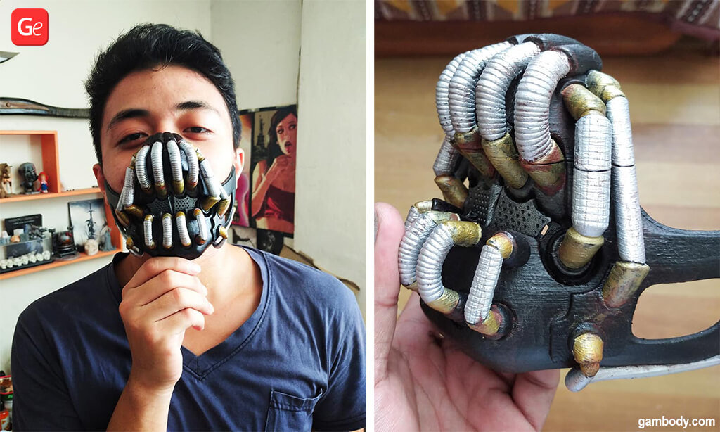 Bane face mask 3D model to 3D print