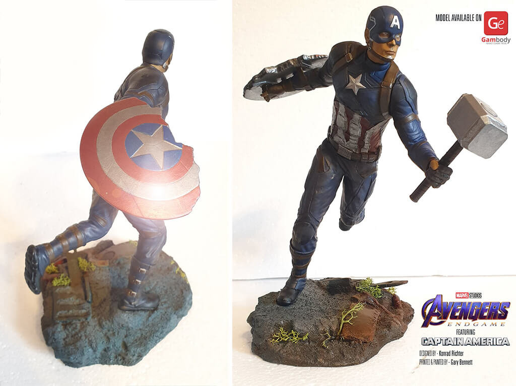 Captain America figurine 3D printing ideas 2020