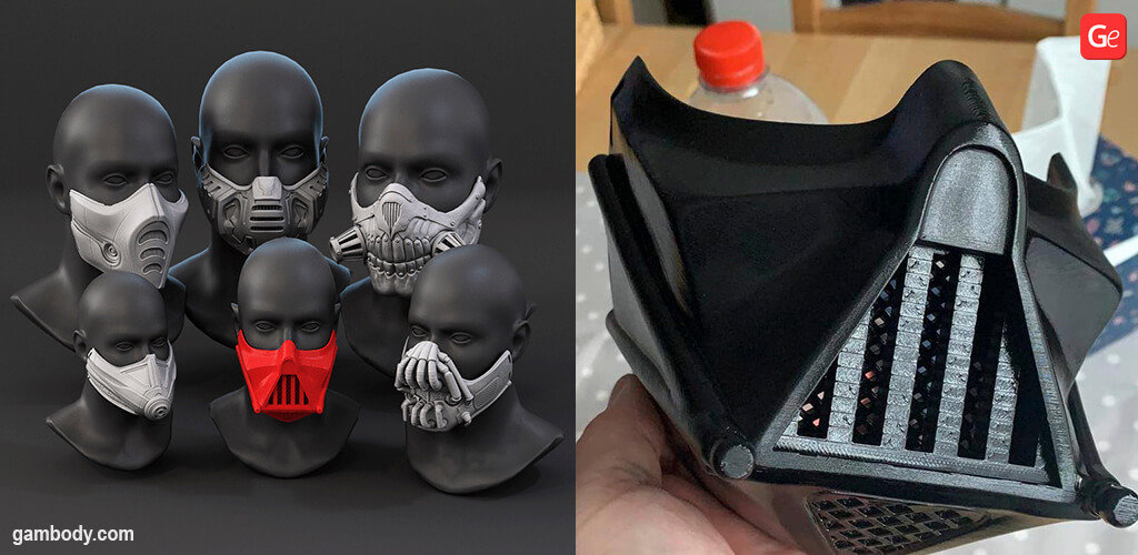 Darth Vader mask 3D printing model STL
