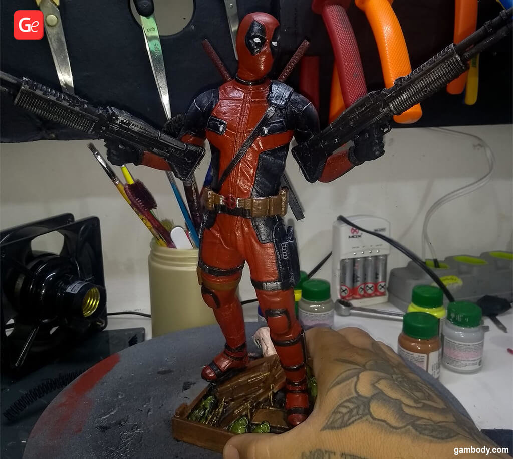 Deadpool 3D printing figurine