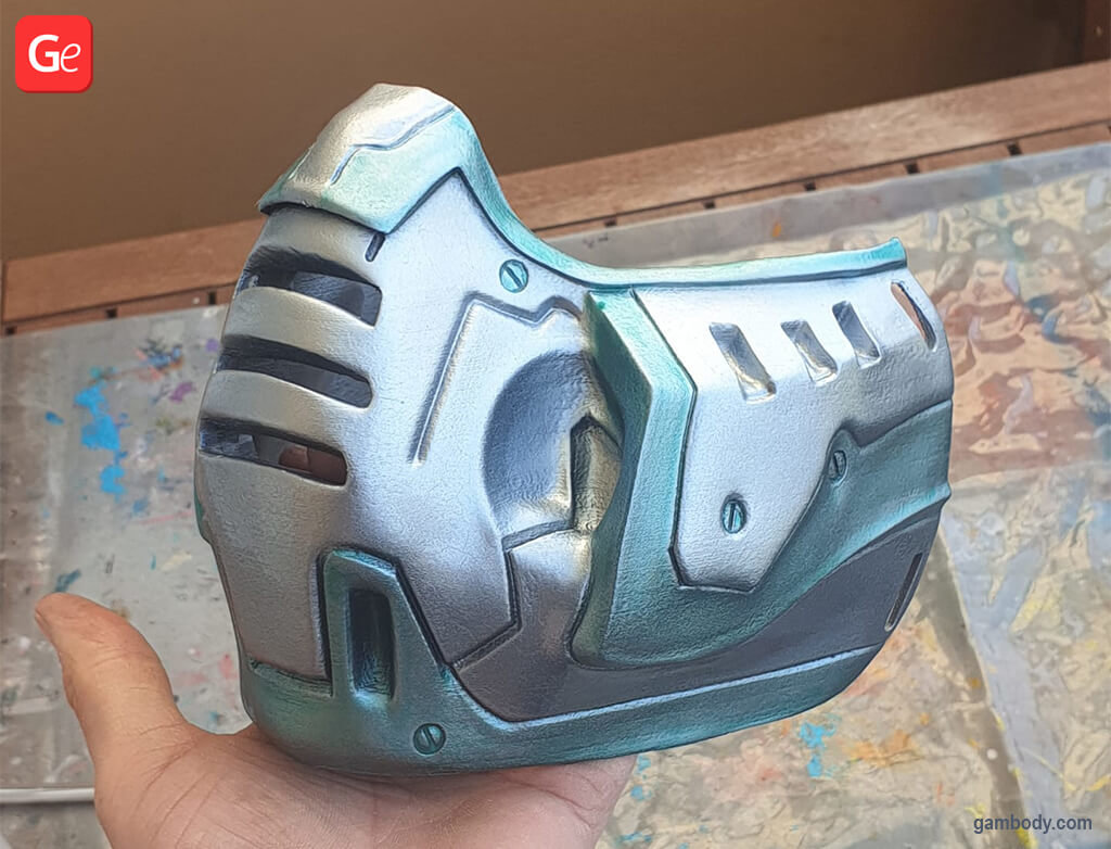 Doom Slayer face mask 3D model to print