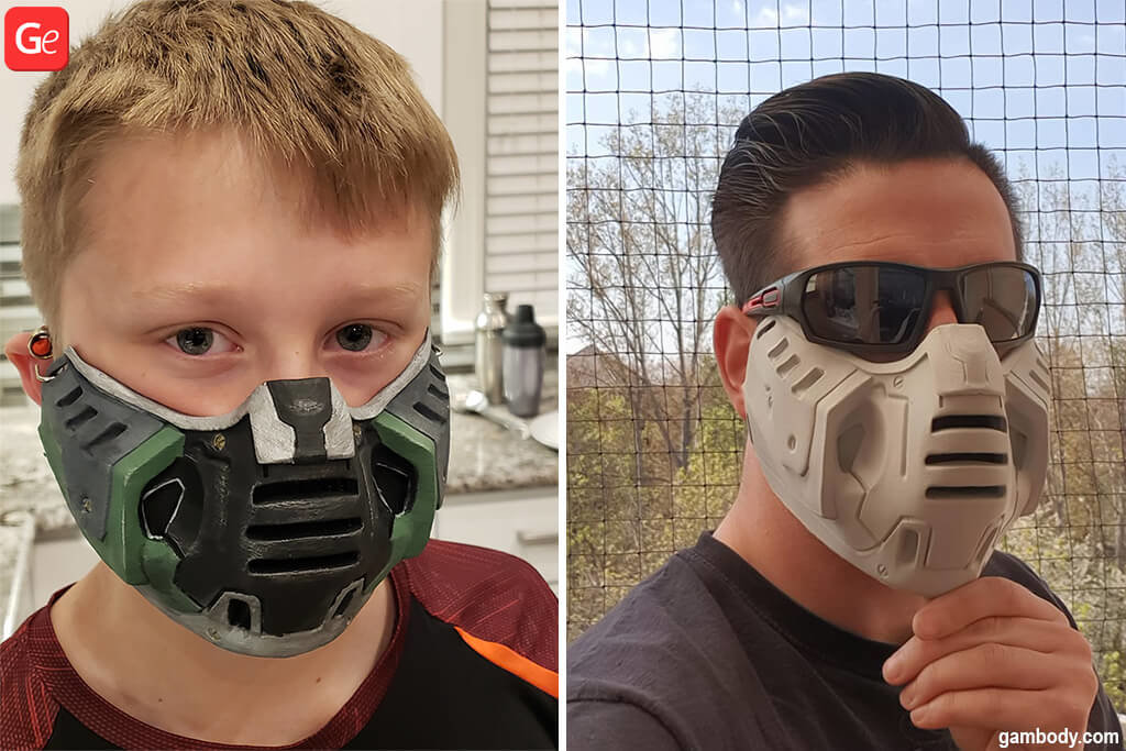 Doom mask 3D printed models