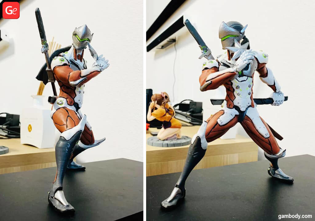 Cyborg ninja Genji 3D printed figurine April trends 2020