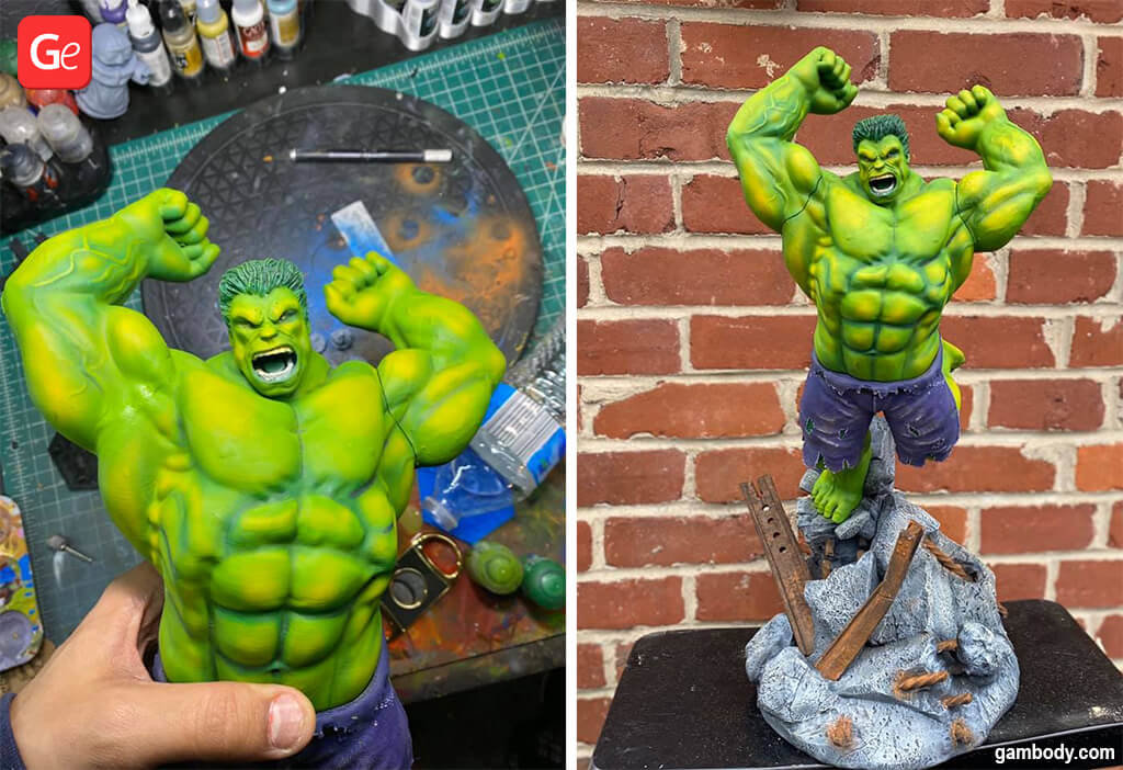 Hulk figurine heroes 3D printing ideas