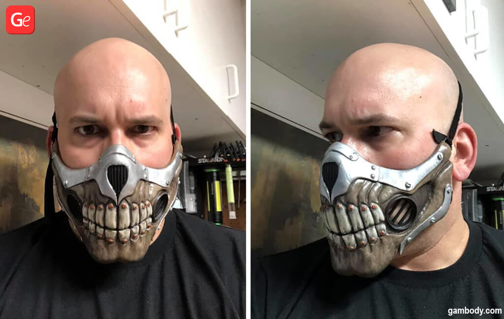 3D printed Immortan Joe face mask