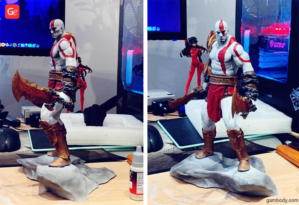 Kratos figurine 3D printing trends