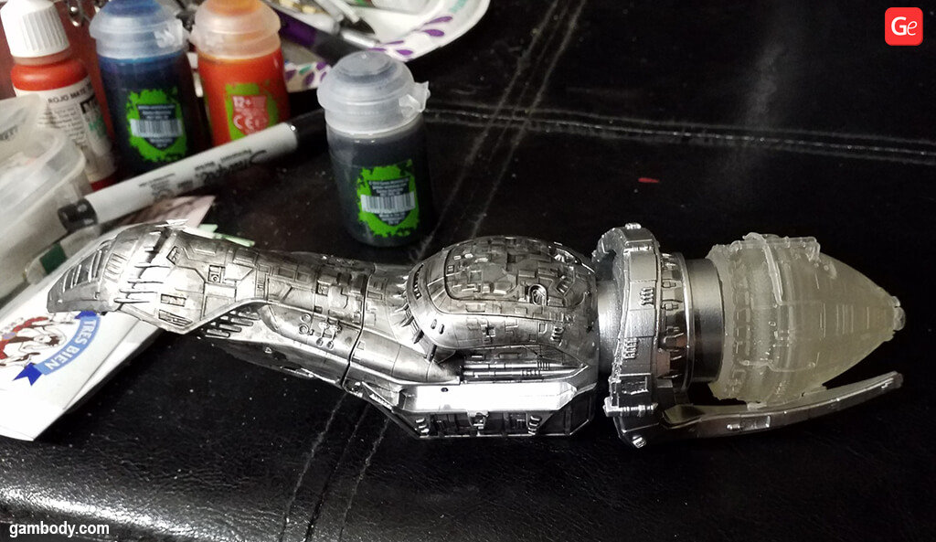 How to paint Serenity spaceship to achieve metallic colour