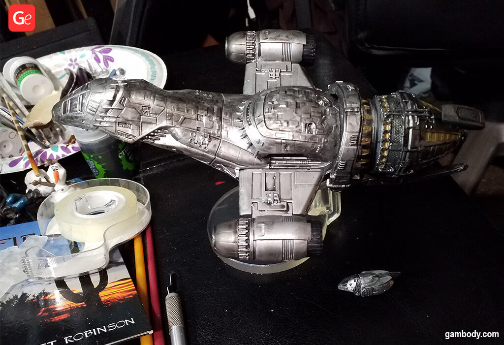 Painting Firefly Serenity vessel 3D printed model