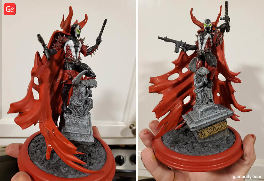 Spawn 3D printing figurine April trends