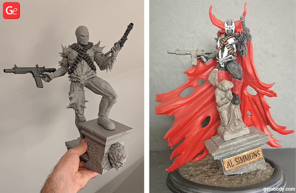 Spawn STL file trending 3D prints of April