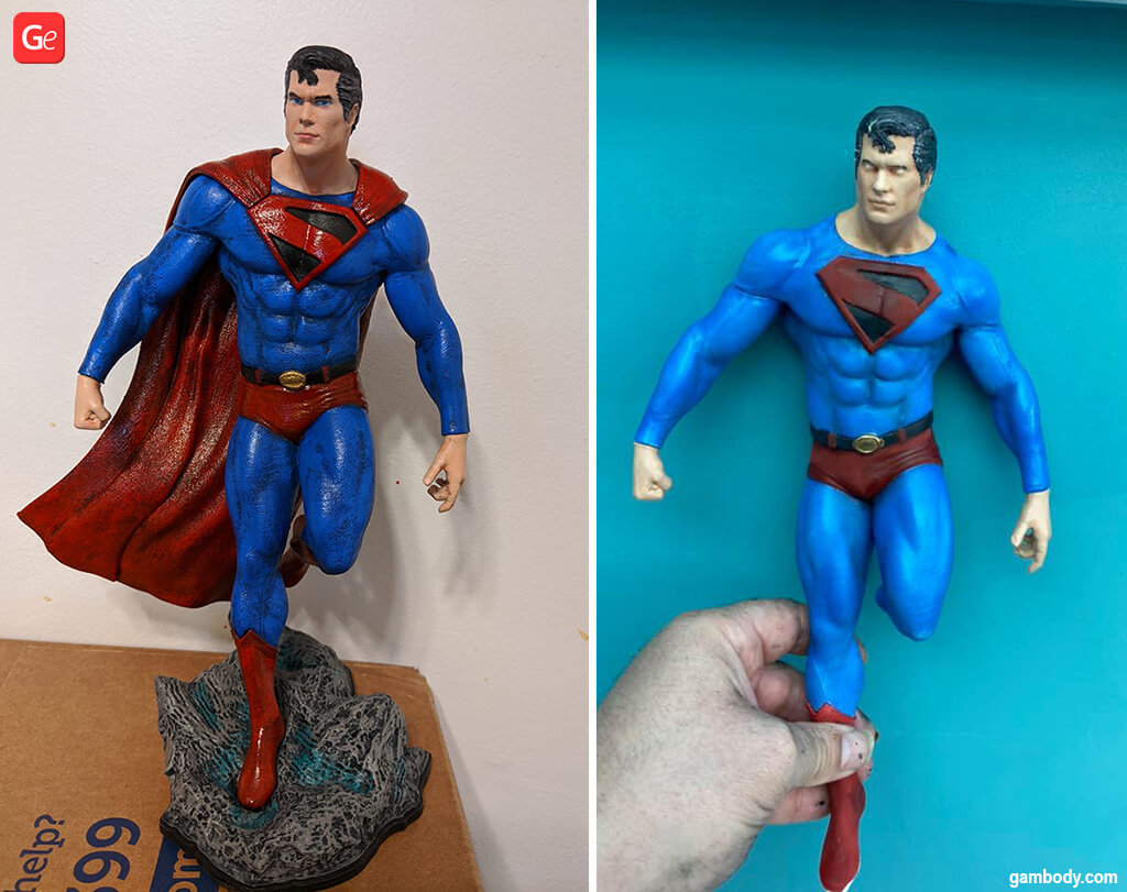 Superman figurine ideas for 3D printing