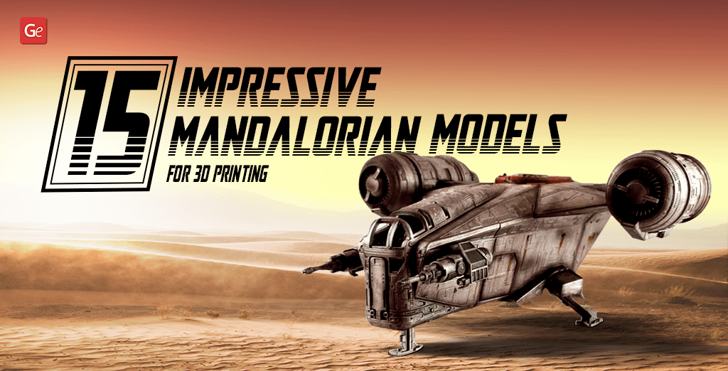 Mandalorian 3D printing models and figurines