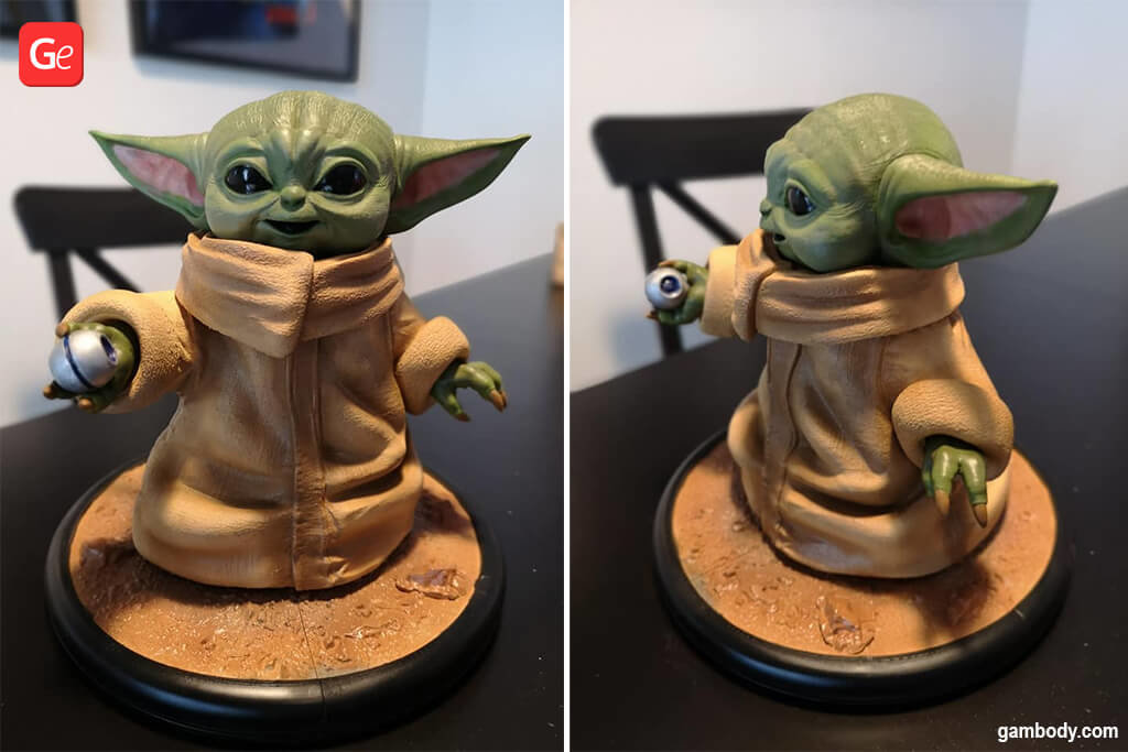 Baby Yoda figurine 3D printing trends 2020