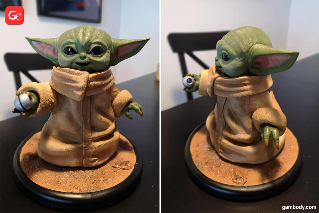 Baby Yoda figurine 3D printing trends 2020