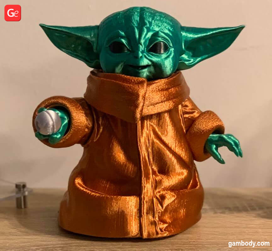 Cute Baby Yoda 3D print