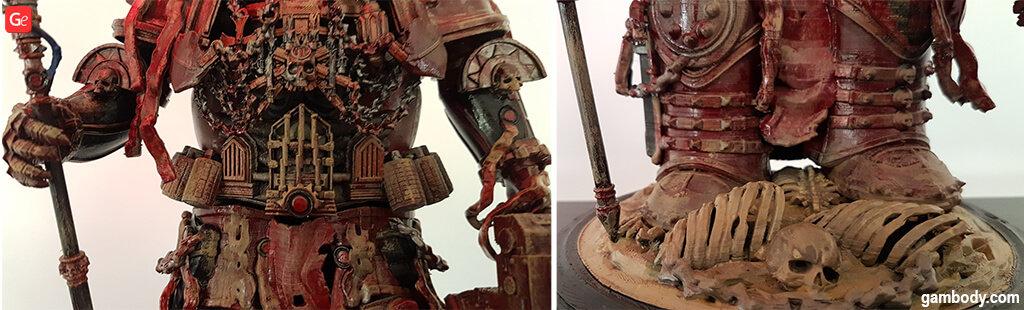 Detailed view of the 3D printed Chaplain figurine
