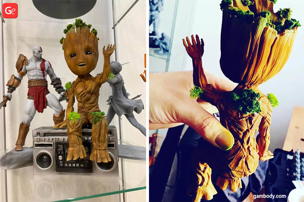 Groot figurine awesome things to 3D print in 2020